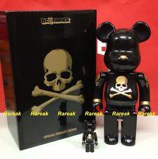 Be@rbrick 2013 Mastermind Japan 400% + 100% Bearbrick Boxset Black Golden MMJ 2p