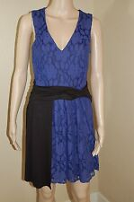 Leifnotes Anthropologie Lined Lace Sleeveless Gathered Drape Waist Dress~Size S