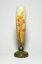 Daum Nancy VASO 'montbrétia' - French Art Nouveau verre vetro art 1911