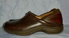 Women's Brown Leather DANSKO Clogs Loafers Size 40, US 9.5 - 10 M GREAT Conditio