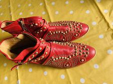 Zara Tachonado Botas Rojo. 37 4