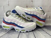 Nike Air Max 95 SE Running Shoes Sail Pink Blue AQ4138-101 Women's Size 9.5 NEW