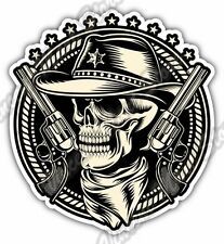 Outlaw Skull Cowboy Revolver Gun Car Bumper Window Vinyl Sticker Decal 4.6""