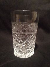 Crystal Whisky Tumbler, 8oz Unsigned 10 cm Tall