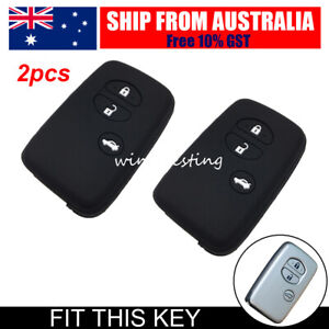 Car Remote Key Cover Silicone Cap Case For Toyota Camry Avalon RAV4 Subaru Black