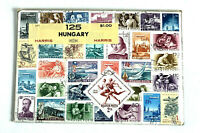 "Vintage Harris Stamp Packet ""125 Hungary"" Used Stamps  C-671"