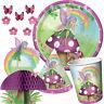 FANCY FAIRY Birthday Party Range - Girl Rainbow Tableware Balloons & Decorations