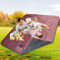 Extra Large Waterproof Picnic Blanket Rug Travel Outdoor Beach Camping Soft