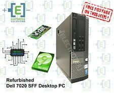 Refurbished Dell Optiplex 7020 intel Core i3 SFF 4GB RAM NO HDD