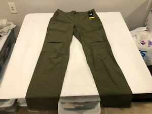 NWT $90.00 Under Armour Mens Storm Canyon Cargo Pants Green Size 34 x 34