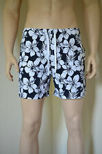 Abercrombie & Fitch estanque montaГ ± oso Swim Board Shorts Azul Marino Floral Xl RRP £ 64
