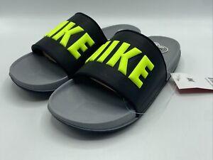 Nike Off Court Men's Size 9 Slide Sandals  Gray Black Volt BQ4639 New in Box!