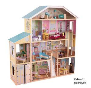 KidKraft Majestic Mansion Wooden Dollhouse | Kids Dolls Playhouse .New