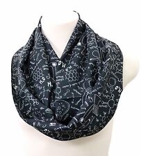 Science infinity scarf chemistry birthday gift for her nerd geek wife teacher