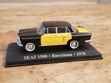 """Old miniature altaya """"taxis of the world; 1/43, seat 1500 barcelona 1970"""