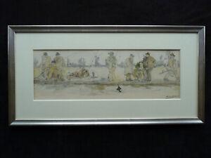 Richard Bloos 1878-1956 - Perti Heil! - Aquarellierte Zeichnung