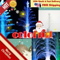 Mini Christmas Tree with LED Lights Ornaments Desk Table Decor Xmas Gift #Cz