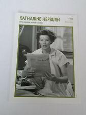 Katharine Hepburn - Fiche cinéma - Portraits de stars 13 cm x 18 cm