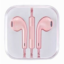 BRAND NEW Rose Pink Earphones Headset Ear pods Handsfree With Mic for iPhone