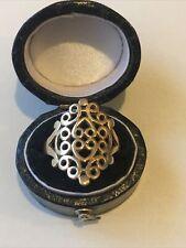 9ct 375 9K Stunning Gold Lattice Ring Size P Hallmarked Boxed