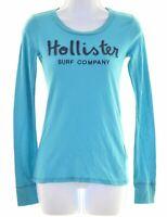 HOLLISTER Womens Top Long Sleeve Size 6 XS Blue Cotton  IP07