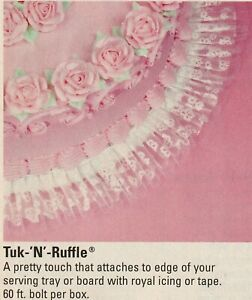 New in Box Wilton Tuk-'N'-Ruffle 60 ft. box of White 802-1008