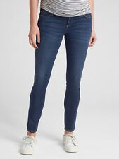 H&M Mama Maternity Jeans Denim Blue Skinny Side Panel Size 12 Slim Fit EUC