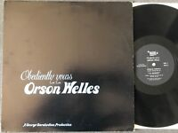 Orson Welles OBEDIENTLY YOURS LP 1980 Mark56 Records RARE VINYL