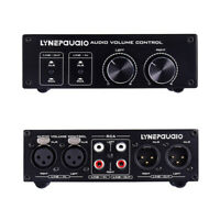2-IN-2-OUT Analog Audio Switcher Box XLR /RCA with Volume Control Passive Preamp
