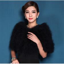 2017 Women Real Ostrich Feather Fur Cape Stole Wrap Shawl 8 Colors Sale Price