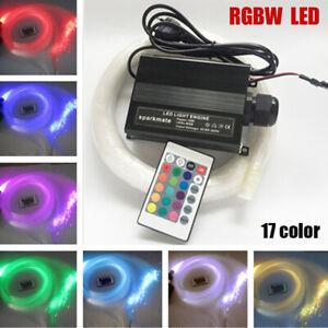 12V 16W RGB Fiber Optic Star Light Kit Decorate Car Headliner Roof Ceiling Light