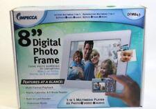 "Impecca DFM843 Black Digital Picture Photo Frame 8"" LCD Display"