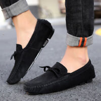 Men Breathable Leather shoes Casual Loafers Peas Flats Breathable Comfy Leisure
