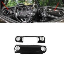 Carbon Fiber Center Console Dashboard Cover Trim For Jeep Wrangler JL 2018 2019