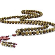 10mm Tibet Buddhist 108 Green Sandalwood Prayer Beads Mala Necklace Bracelet