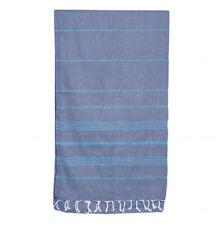 SAMMIMIS Santorini Classic 275g Denim Aqua Turkish Towel 180x90cm Beach Bath