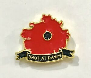 COLLECTABLE MILITARY SOLDIER SHOT AT DAWN LAPEL REMEMBRANCE PIN BADGE