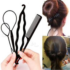 1Set Hot Fashion Beauty Simple Pattern Twist Comb 4 IN 1 Hair Disk Double Needle