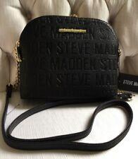 Steve Madden handbag BMarilyn Stamped Logo Black With Gold Hardware
