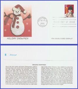 USA5 #3685 U/A FLEETWOOD FDC   Snowman Blue Plaid Scarf
