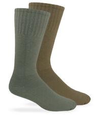Jefferies Socks Mens Military Uniform Cushion Cotton Crew Boot Socks 3 Pair Pack