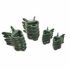 20 Garden Plant Clips Tie backs Ties Clamps Tools Spring Clip Shrub Support