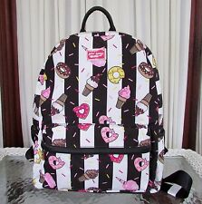 Betsey Johnson Doughnut Sweets Backpack Travel School Campus Diaper Bag Tote NWT