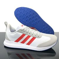 NEW Adidas Run 60s Athletic Running Shoes Gray White Red EE9728 Men's Size 10.5