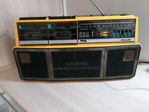 Philips D 8304 80er Jahre Ghettoblaster Radiorecorder Radio Cassette Boombox