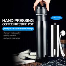 i Cafilas Stainless Steel French Press Coffee Maker Mug Plunger Filter + Grinder