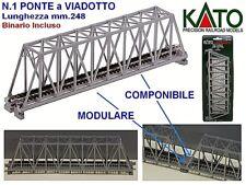KATO 20-43 N.1 PONTE a VIADOTTO mm.248 con BINARIO SINGLE TRUSS BRIDGE SCALA-N
