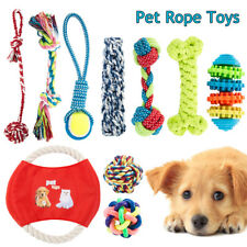 10pc Dog Rope Toys Pet Puppy Chew Toy Gift Set Durable Cotton Clean Teeth