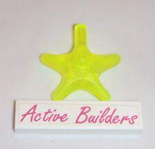2x Lego Starfish Star Ornament 41520 Neon Green Water Animal