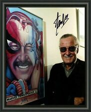STAN LEE MARVEL COMICS LEGEND A4 SIGNED AUTOGRAPHED PHOTO POSTER  FREE POST
